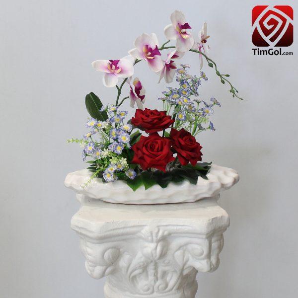 گل مصنوعی رز و ارکیده