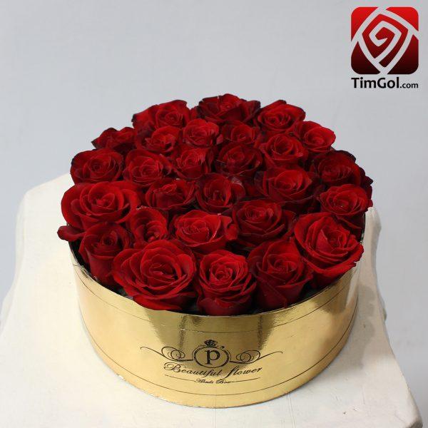 باکس گل رز طبیعی ارزان اصفهان