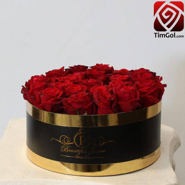 باکس گل رز طبیعی