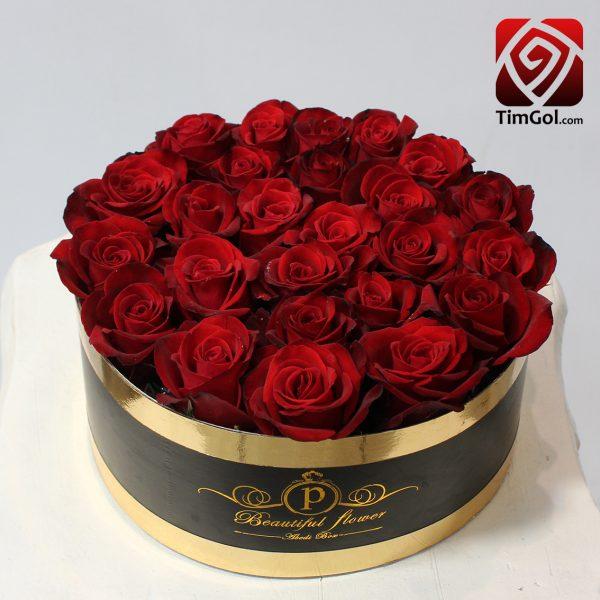 باکس گل رز طبیعی ارزان